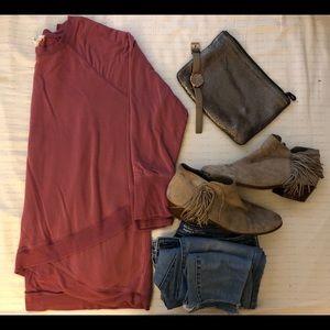 Mauve sweatshirt style top